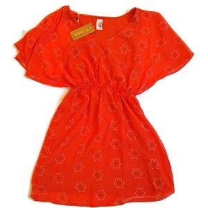 Francesca's Birdcage Orange Dress M